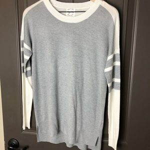 Hippie Rose Sweater with Varsity Stripes